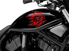 Flame Fuel Tank Sticker Set 2 Fire Vinyl Motorcycle Motor Decal Motorbike Bike 4
