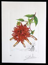 SALVADOR DALI lithographie FLORADALI HAND SIGNIERT ARCHES PAPIER