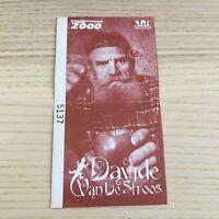 Davide Van De Sfroos - Per Una Poma Tour 2000 - Biglietto Ticket Concerto