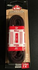 Kiwi Outdoor 72 Inch Round Brown Shoelaces 9+ Eyelets NEW