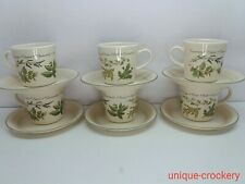 6 x corelle coordinates cups and saucers