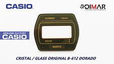 VINTAGE GLASS CASIO B-612 DORADO NOS