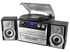 soundmaster MCD4500 HiFi with FM Radio, CD Player & Record Player Turntable