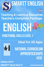 Functional Skills Level 1 English Teaching & Learning Resources Complete Package