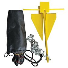 1.8kg Danforth Anchor Kit for RIBs Dinghys Canoe Jetski Fishing Boat
