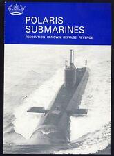 Royal Navy Ships Visitor Pamphlet HMS Polaris Submarines Stats Data 1980s UK RN