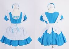 Z-04 Gr S M One Size blau blue Maid Dienstmädchen Cosplay Kleid dress costume