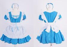 Z-04 Gr S M Talla Única Azul Grabado Chica Servicio Cosplay Vestido Traje