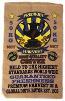 PREMIUM HARVEST COFFEE BURLAP BAG 039 printed bags sack storage wall hanging new