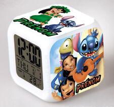 Reveil Digital lumineux Lilo et Stitch personnalisé avec prénom de votre choix