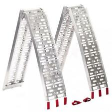 New 7.5 ft Aluminum ATV Truck Loading Ramps, Arched Bi-Fold Ramps Pair D226