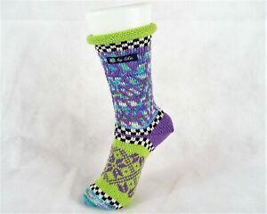 Socke, Stricksocken, Handarbeit, lila, grün, Gr. 40 Gr. 41 (40-41)