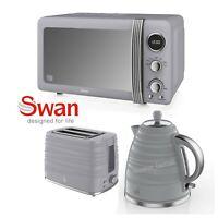 Swan Grey 800w 20 Litre Digital Microwave 1.7 Litre Kettle 2 Slice Toaster