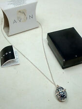 Avon Naida Silver Plated Egg Opening Necklace with Bird Inside