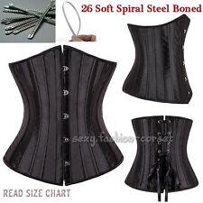 3pcs Fashion Style Lace Up Bone Overbust Corset + Mini Skirt Costume Bustier Set