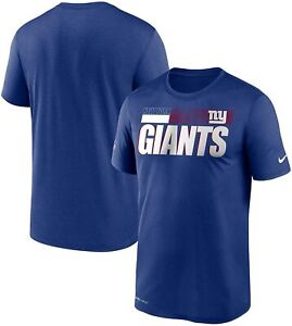 New York Giants Nike Youth Boys Sideline Impact Legend DRI-FIT T-Shirt - Blue