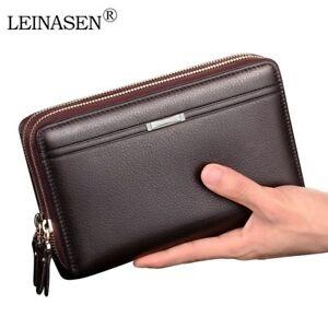 Men Wallets Coin Pocket Long Zipper Coin Purse Clutch Mens Classic Large Wallet