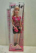 fashionista barbie doll with Barbie Style red to black paisley dress New 2013