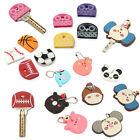 Silicone Sports Ball Owl Shape Key Caps Head Covers Keychain Case Shell Keyring