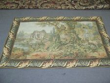 "European Woven Jacquard Wall Hanging Tapestry 36"" x 58"" Excellent Palace Garden"