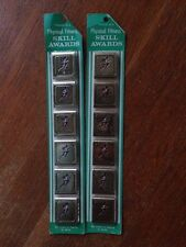 VINTAGE BOY SCOUTS/BSA PHYSICAL FITNESS SKILL AWARD BELT LOOP ~ 6 PACK ~ 1972-88