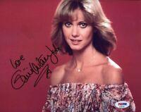 OLIVIA NEWTON JOHN PSA DNA Cert Hand Signed 8x10 Photo Authentic Autograph