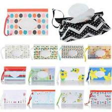 Baby Wet Wipe Pouch Wipes Holder Case Reusable Refillable Wet Wipe Bag Case