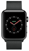 New Apple Watch Series 3 42mm Black Stainless Steel Space Milanese GPS Cellular