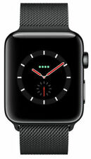 Apple Watch Series 3 38mm Space Black Stainless Steel Case with Space Black Milanese Loop (GPS + Cellular) - (MR1H2LL/A)