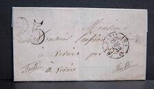 PLI avec cachet de PARIS + 25 adressé à un Notaire en MEURTHE - 16 DEC. 50 1850