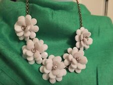 J Crew Crystal Floral Burst Statement Necklace Authentic White  $69.50 #A6078