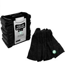 Kit de 10 toallas de microfibra color negro de Steinhart