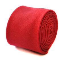 Frederick Thomas skinny plain red linen tie FT1907