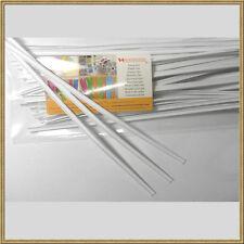 """50pcs Plastic White 7"""" Twist Ties - Double Wire Heavy Duty"""
