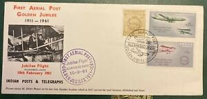 INDIA STAMPS FIRST FLIGHT COVERS, FIVE.
