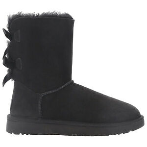 Ugg Australia Womens Boots Bailey Bow II Casual Pull-On Ankle Suede