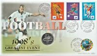 FRANCE 1998 WORLD CUP WITH SILVER COIN BENHAM FOOTBALL COVER