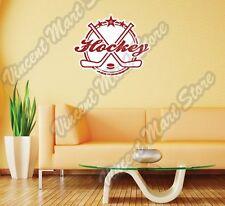 "Hockey Stick Puck Skate NHL Grunge Wall Sticker Room Interior Decor 25""X21"""