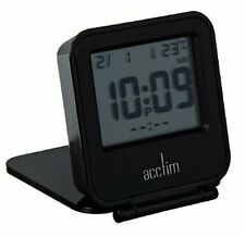 Acctim Joy folding travel alarm Clock in Black (our ref 4robp)