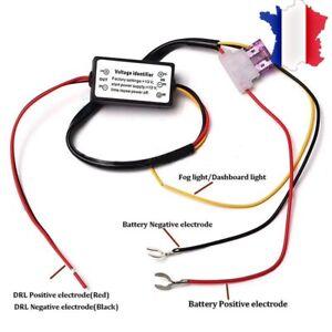 LED Boîtier Relais AUTO Feux De Jour DRL Automatique -50% et On/off Automatique