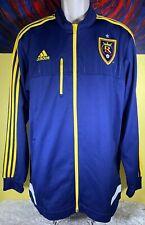 Men's Adidas Real Salt Lake Soccer Full Zip Track Jacket Size XL Navy Blue