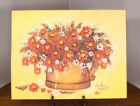 Floral Painting Canvas Board Merrill Wisconsin Artist Susan Nelson Van Sleet 79