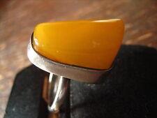 Bernstein Honigbernstein Butterscotch Amber rießen Fundstück Ring 925er Silber