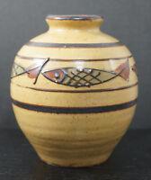 Vintage Mid Century Japanese Art Pottery Fish Designs Mid Century