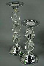 Crystal Tabletop Candlestick Holders