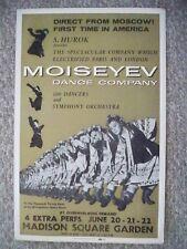 Moiseyev Dance Company Window Card Madison Square Garden Nyc 1st Usa Visit 1958