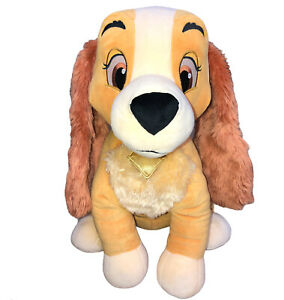"""Disney Store Exclusive HUGE 22"""" """"Lady"""" and the Tramp Plush Stuffed Puppy Dog Toy"""