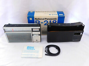 Vintage Working National Panasonic R-218R Portable Transistor Radio Original Box
