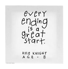 Kid's Quotes Canvas Wall Art - EVERY ENDING IS A GREAT - KQ-QA-ACK008