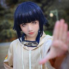 Anime Hinata Hyuga Blue Black Mixed Cosplay Wig Halloween Party Wigs